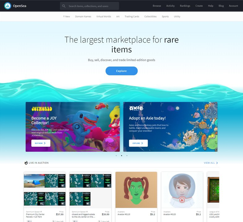The Opensea Marketplace