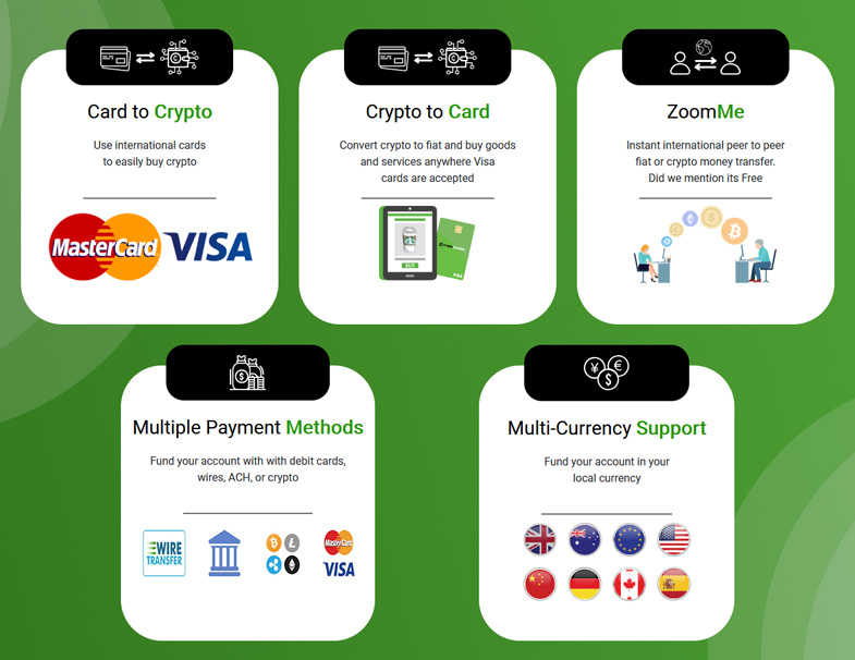 ZoomMe Remittance Feature for P2P Fiat & Crypto Transfers 1