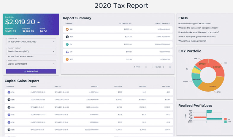 Generate your tax reports